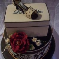Boxes And Shoe Design is from a decorator in MD Gingerella my buddie! Display I did for a local bridal show