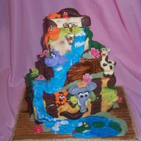 Safari Cake  Cake from the Susan Canberry class OMG! this cake was so much work, I would really have to love to you make it for someone or this would...