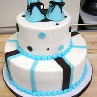 Booties In Blue blue and chocolate cake a client ordered..... thanks for looking