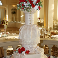 Bridal Themed Wedding Cake My Bride wanted a cake special for her day so I pulled out Becky and Martha's book and here is her cake! TFL