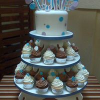 Luke's Cupcake Tower This is the first time I am using this cupcake tower from http://www.thecupcaketower.com/products/?gclid=CLis_tv2s6ECFYNS2godYETbGA I LOVED...