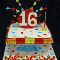 Fiesta Themed Sweet 16 Party was held at a Mexican restaurant....all fondant decorations. Thanks for looking!
