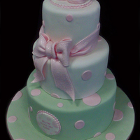 Pink Patent Booties Fondant cake...all fondant decorations....painted with piping gel for shine....thanks for looking!