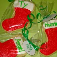 Christmas Cookies Stockings Christmas Cookies for my son's kinder class...NFSC w/ royal