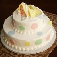 Peek A Boo This is one of my favorite last minute baby shower cakes. So easy and yet looks much harder. People love this cake. You can use any size...