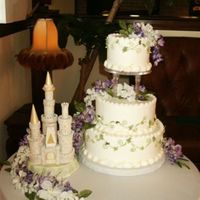 Wysteria Wedding This was for a young couple. They just had to have that castle. I rec'd the castle in white and dusted it with sever colors of petal/...