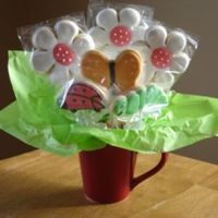 Daisy Cookie Bouquet   This is my first cookie bouquet I have sold. They are Sugar Cookies with RI.