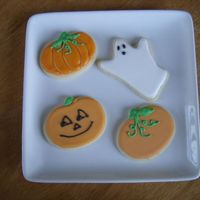 Halloween Cookies   I was playing around with my Halloween Cutters. My son passed them out to his soccer team after their game.
