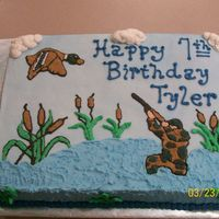 Duck Hunter Birthday Cake Got idea and inspiration from a cake on CC. Sorry, I don't know the name of the person who posted it, but thanks for the idea! All...