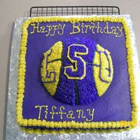 Lsu Birthday Cake One of my good friends called in the a.m. and needed 2 cakes for the p.m. And, being the good friend that I am, of course accomadated (ha,...