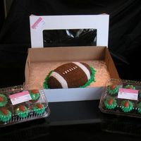 Football With Matching Cupcakes