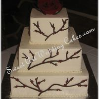 Wine Colored Berries Fondant branches with piped berries.