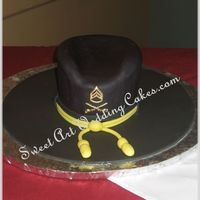 Black Hat All fondant with gumpaste rank.