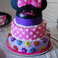 Colorful Minnie Mouse Cake This was made for a Mickey Mouse Clubhouse themed party but the mom wanted the emphasis to be Minnie and still have lots of color. It is...