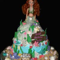 Little Mermaid   Iced in BC all accents are fondant and the shells are white chocolate.