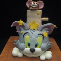 Tom And Jerry Made this cake for my son's 5th birthday. He loves Tom and Jerry. Cake design is from Debbie Brown's Cartoon Cakes. Thanks for...