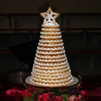 Danish Wedding Cake This is a picture of the kransekage or Danish Wedding cake. They are popular where I live in Denmark, Kansas as everyone has Danish...