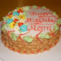 Moms_Birthday_Cake.jpg Just a quick simple cake for mom's birthday. Devils food with buttecream.