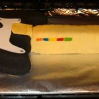 Rockband Fender Guitar RockBand Guitar all fondant and gumpaste.