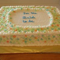 Lattice And Drop Flowers   This is a marble cake for my nephews Bride, Lots of drop flowers.