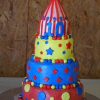 Birthday Carnival Cake My daughter's 10th birthday cake. Thanks to ideas here on CC.