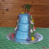 Birthday Waterfall Cake