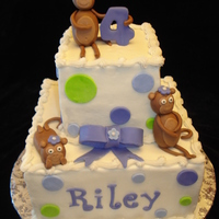 Monkey Birthday Cake Thanks to cookinqueen for the design on this one. My first time making fondant figures. I wasn't happy with the bow (only 2nd one of...