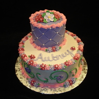 Flower Birthday Cake I loved how this cake turned out. Lots of pretty flowers in girly colors! The birthday girl was thrilled.
