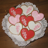 Valentine's Cookies Valentine's cookies made with a stencil.