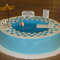Swimming Pool Cake Swimming pool cake for a kid turning 14.