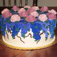 Buttercream Lilacs Mothers Day Cake