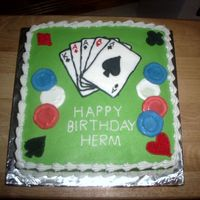 Birthday Cake For Poker Player cards are frozen transfer. chips are made from colorflow.