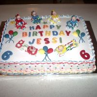 Pict4561.jpg Clown cake I made for my 6 year old granddaughter