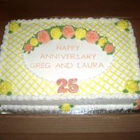 25Th Anniversary 25th anniversary, Wedding colors were yellow and peach.