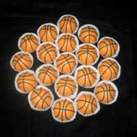 Basketball Bites!   These are cake bites decorated with royal icing to look like basketballs. I'm thinking the possibilities are endless!