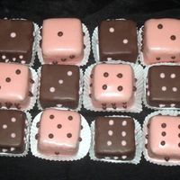 Bunco Bites!   These are cake bites molded into squares and decorated to resemble dice for a Bunco party. Wanted to post b/c these are a good seller!