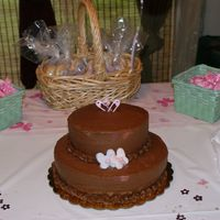 Baby Shower Cake 1 BOTTOM LAYER: Chocolate Cake with Chocolate filling and Crusting Chocolate Buttercream. TOP LAYER: Same as bottom execpt for it being a...