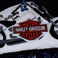 Harley Riders Birthday Cake made this for a friend