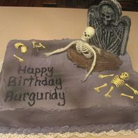 Halloween Birthday Cake   Customer requested skeleton theme so I thought of this....they loved it!