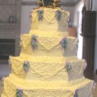 Wedding Cake For Friends   Have only done a few wedding cakes and I think this is my favorite yet.