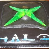 Halo Cake For Halo Party I was asked to do this for the son of a man that works with my husband....was told they all loved it.