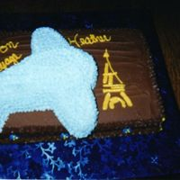 Bon Voyage Cake   Did this one for a family friend that was going to.....Paris of course :o)