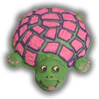 Turtle Lover Little Girls Cake   this was made for a little girl who loves turtles :o)