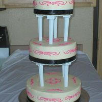 Tiered Wedding Cake White cake with buttercream frosting & strawberry filling. There is just something about this cake that I didn't like. We used the...