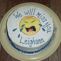 Leighann's Going Away Black Midnight Chocolate Cake with Italian Meringue Buttercream.
