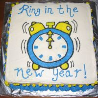 Ring In The New Year! I made this cake for a New Year's Eve party with friends & family. My 11 year old God Daughter was visiting from Tennessee, so she...