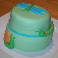Bug Cake  My first ever cake, a trial version of a christening cake. I decided to match the scheme with the theme of my son's room - bugs. I...