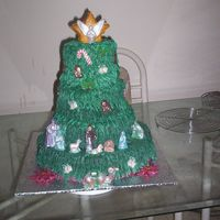 Christmas Tree  I made this cake for the Knights of Columbus Christmas Party. I am very proud of this one as I have not taken any classes yet and this is...