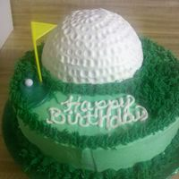 Golf Cake Inspired From This Site   Co-workers Birthday