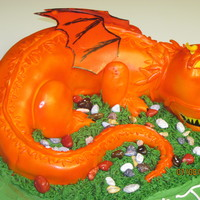 Dragon Cake I had a blast with this one, the little boy wanted a red dragon cake, that was his only request. This little guy blew his mind and made his...